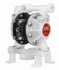 "Ingersoll-Rand® ARO 1/2"" Polypropylene Air Operated Diaphragm Pump   1/2"" Models, Polypropylene Construction, Max Operating Pressure 6.9 Bar, Max Flow Rate 54 Ltrs/Min"