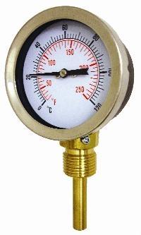 Cewal® 100mm HVAC Pressure Gauge   100mm Diameter  Black Steel Case, S/Steel Bezel