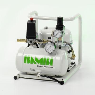 Bambi MD35/20 Compressor - Silent Air - Medical Dental (4 Litres, 0.5 HP)