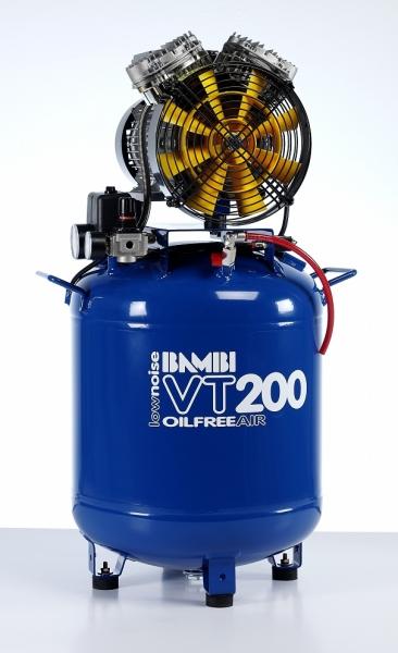 Bambi VT200 Air Compressor - Ultra Quiet - Oil-Free Professional (50 Litres, 2 HP)