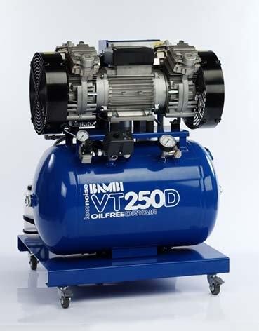 Bambi VT250D Air Compressor - Ultra Quiet - Oil-Free Professional (59 Litres, 2.5 HP)