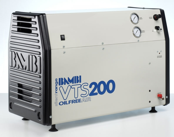 Bambi Oil-Free VTS200 Silent Air Compressor (23 Litres, 2 HP)