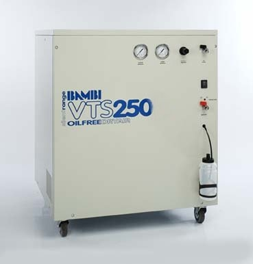Bambi VTS250 Air Compressor - Silent - Oil-Free Professional (59 Litres, 0.75 HP)