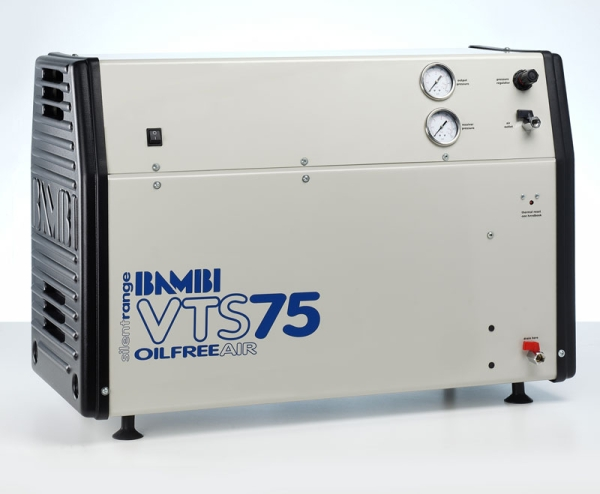 Bambi Oil-Free VTS75 Silent Air Compressor (23 Litres, 0.75 HP)
