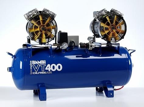 Bambi VT400 Air Compressor - Ultra Quiet - Oil-Free Professional (100 Litres, 4 HP)