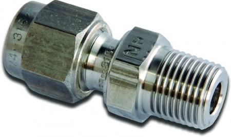 Parker A-LOK Metric Male Connector - BSPT