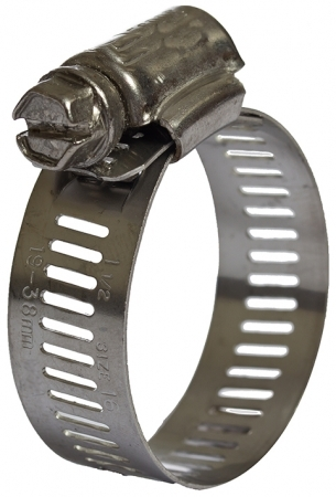 Slotted T620 St/Steel Hose Clips 13mm Band
