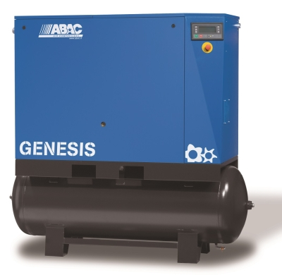 ABAC GENESIS Rotary Screw Air Compressor - 22Kw 30Hp 120.6Cfm @ 8 Bar - Complete Unit (Tank + Dryer + Filters)