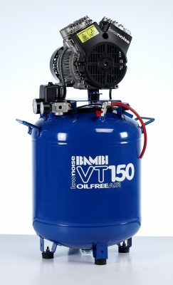 Bambi VT150 Compressor - Ultra Quiet Air - Oil-Free Professional (50 Litres, 1.5 HP)