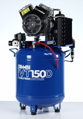 Bambi VT150D Compressor - Ultra Quiet Air - Oil-Free Professional (50 Litres, 1.5 HP)