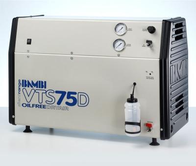 Bambi Oil-Free VTS75D Silent Air Compressor (23 Litres, 0.75 HP)