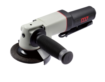 """MIGHTY SEVEN - QB -124 4"""" Air Angle Grinder / Lever Type Throttle"""