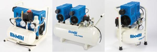 New range of oil free silent air compressors from BAMBI