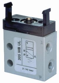 """Panel Mount Valves 3/2, 4mm Push-In & M5 Ported Body""   Pneumatic Valves"