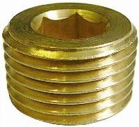Allen Key Plug   Brass Fittings  Male BSPT