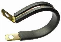 P-Clip - 20mm Band   Mild Steel Zinc Plated  Rubber Lined