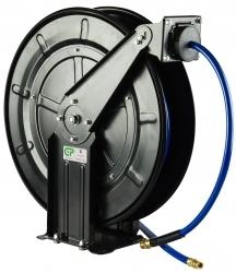 20 Mtr Open Frame Retractable Metal Air Hose Reel - Blue Hose