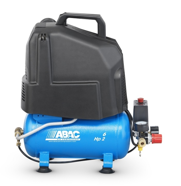 ABAC START 020P Direct Drive Oil-Less 2 HP 6 Litre Air Compressor